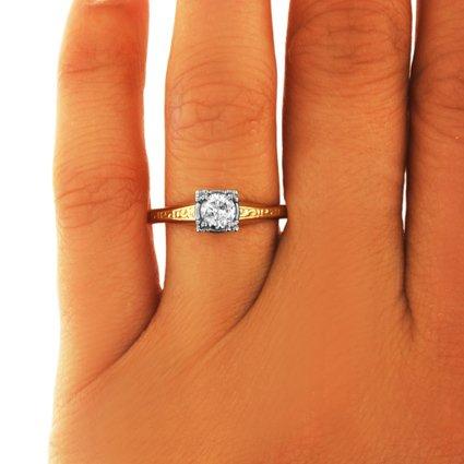 Retro Diamond Vintage Ring London Brilliant Earth