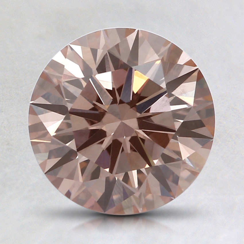 1.74 Ct. Fancy Pinkish Brown Round Lab Created Diamond