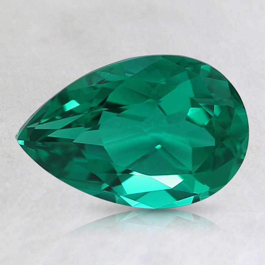 9x6mm Pear Lab Created Emerald