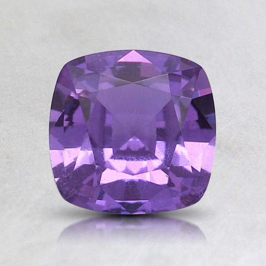 6.4x6.3mm Purple Cushion Sapphire