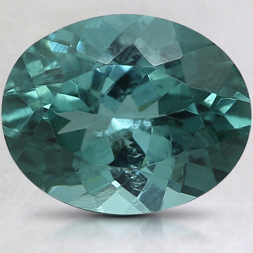 10x8mm Teal Oval Tourmaline