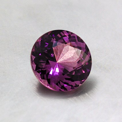 5.5mm Purplish Pink Round Sapphire, top view