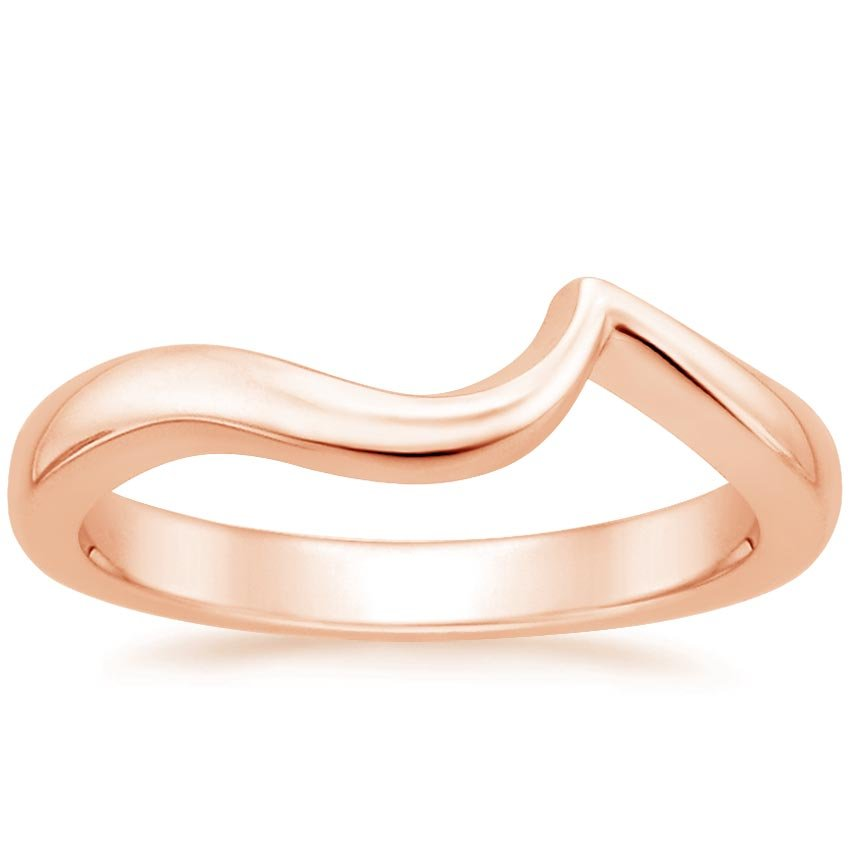 14K Rose Gold Seacrest Wedding Ring, top view