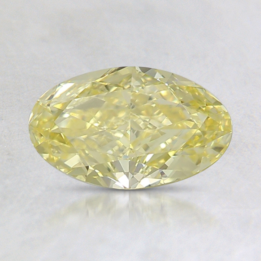 0.77 Ct. Fancy Intense Yellow Oval Diamond