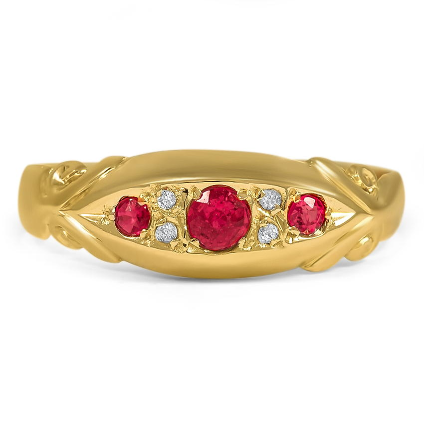 The Rosemarie Ring, top view