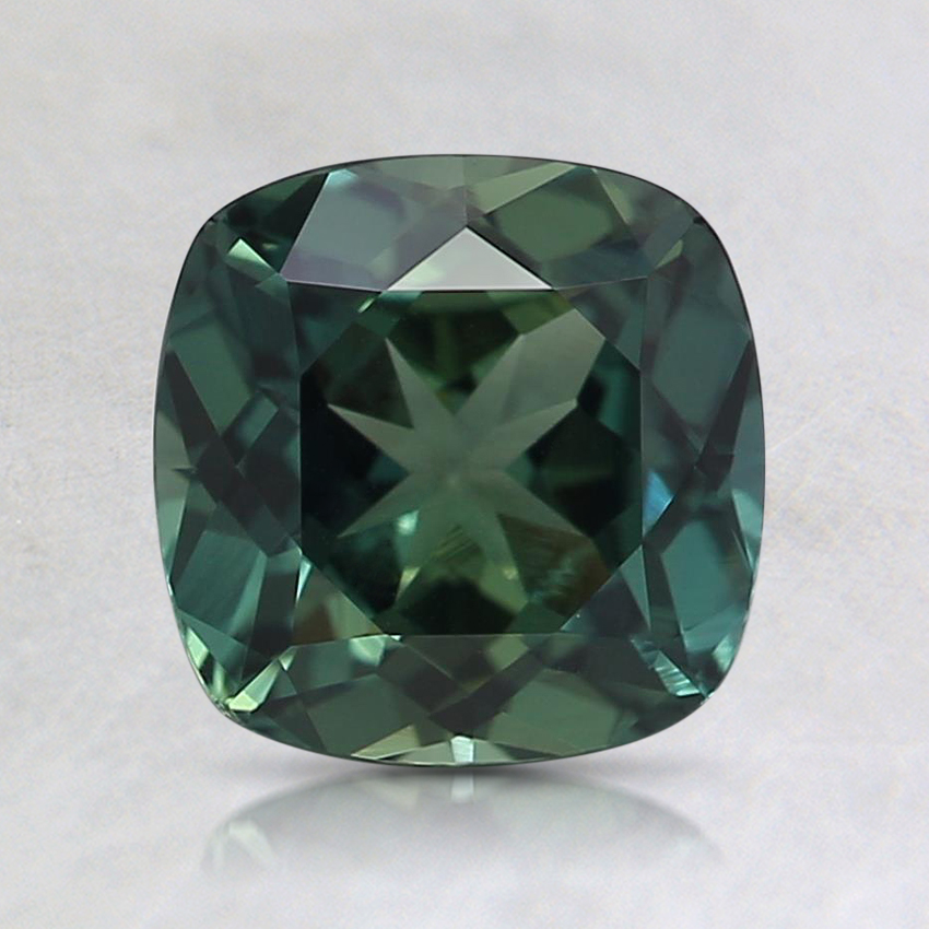 6.6mm Unheated Teal Cushion Sapphire