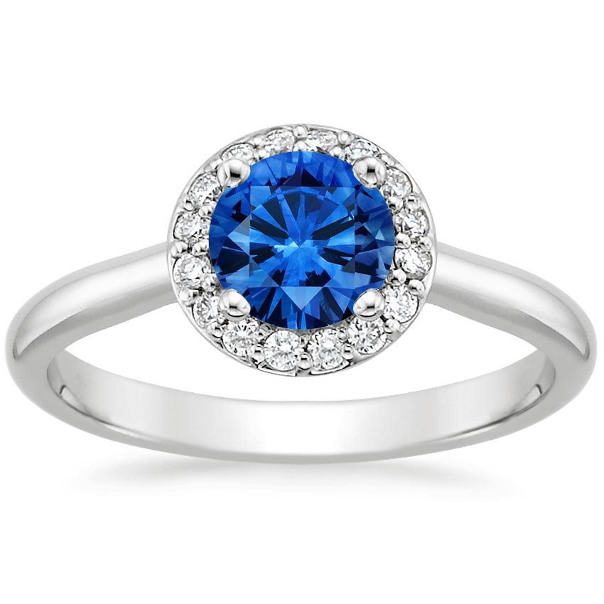 Top Twenty Sapphire Rings - SAPPHIRE HALO DIAMOND RING (1/8 CT. TW.)