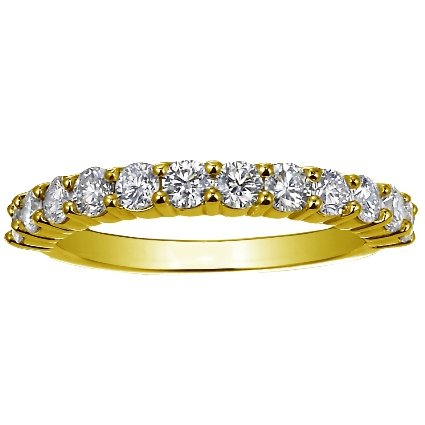 18K Yellow Gold Luxe Shared Prong Diamond Ring (3/4 ct. tw.), top view