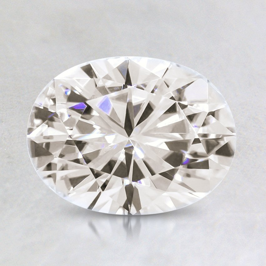 8x6mm Premium Oval Moissanite, top view
