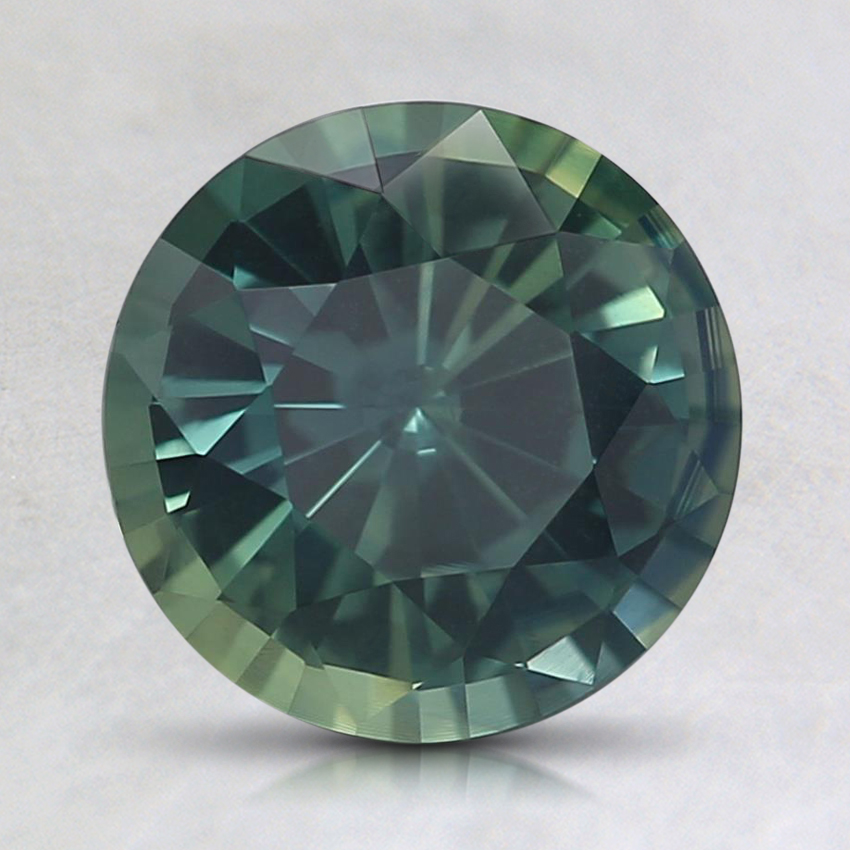 7.6mm Unheated Teal Round Sapphire