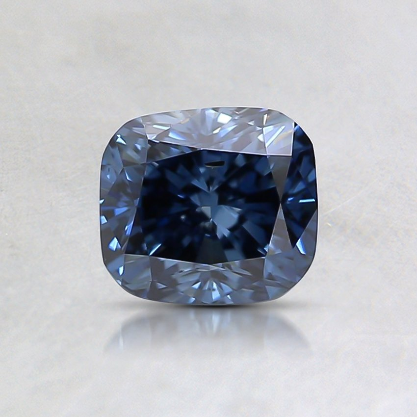0.74 Ct. Fancy Deep Blue Cushion Lab Created Diamond