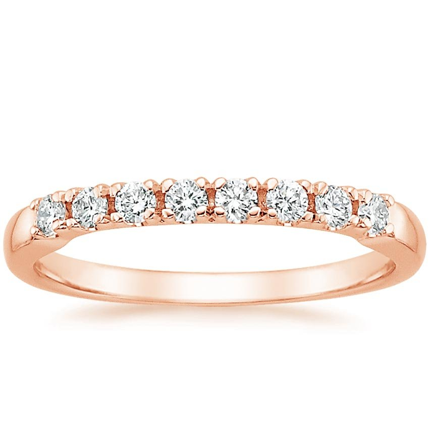Rose Gold 8 Stone Diamond Ring