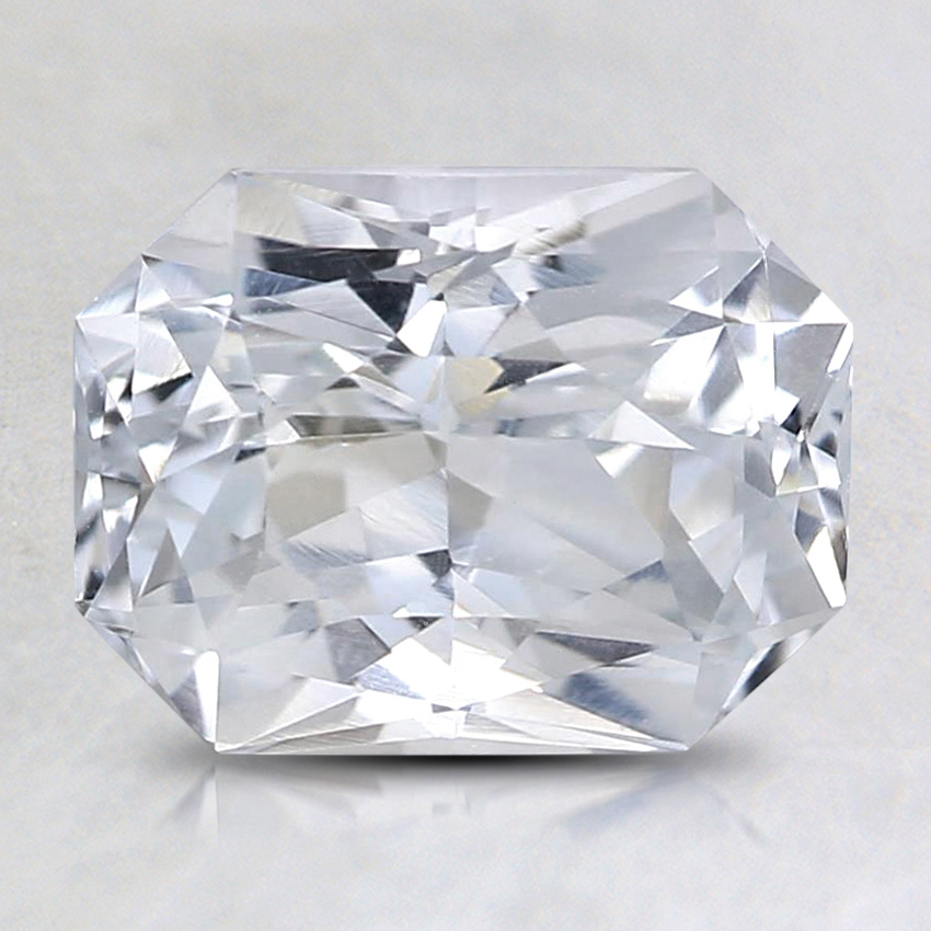 8.5x6.6mm Unheated White Radiant Sapphire