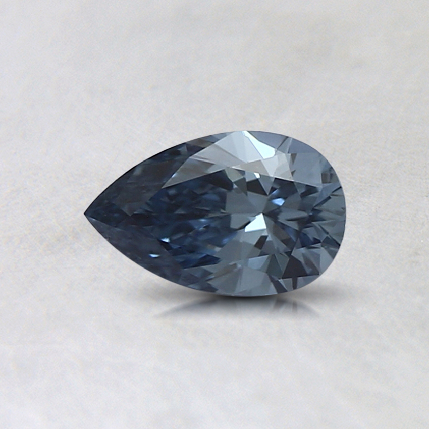 0.35 Ct. Fancy Intense Blue Pear Lab Created Diamond