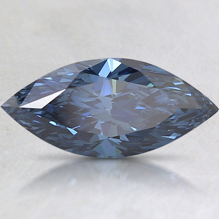 1.63 Ct. Fancy Deep Blue Marquise Lab Created Diamond