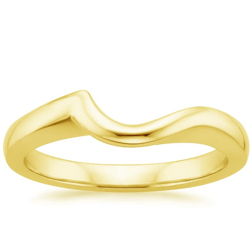 18K Yellow Gold Cascade Wedding Ring, top view