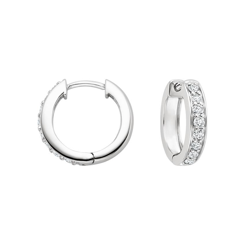 Top Twenty Anniversary Gifts - LUXE DIAMOND HUGGIE EARRINGS (1/2 CT. TW.)