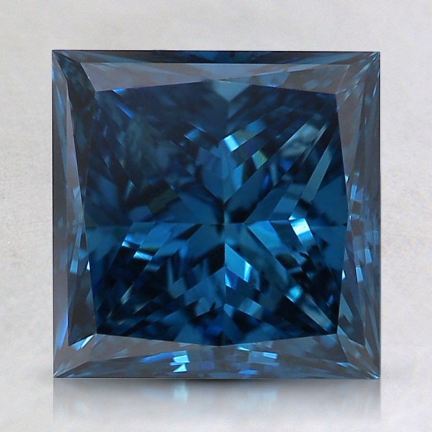 2.52 Ct. Fancy Deep Blue Princess Lab Created Diamond