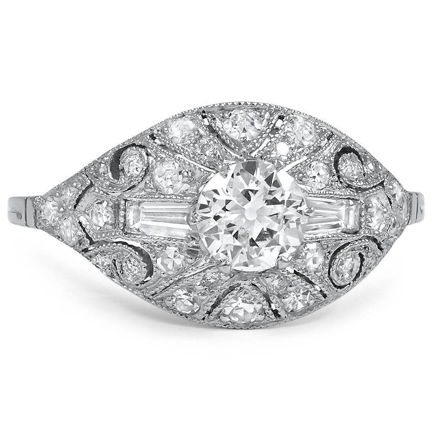 Art Deco Diamond Vintage Ring Karlotte Brilliant Earth