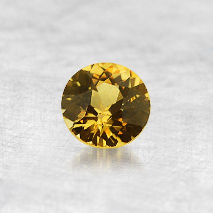 4.5mm Yellow Round Sapphire, top view