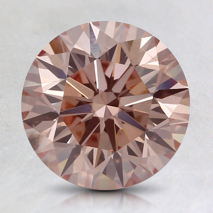 2.00 Ct. Fancy Pinkish Orange Round Lab Created Diamond