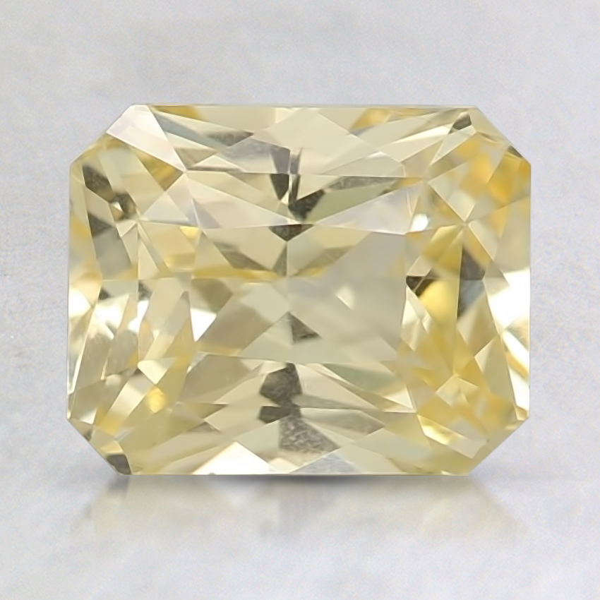 7.8x6.3mm Unheated Yellow Radiant Sapphire