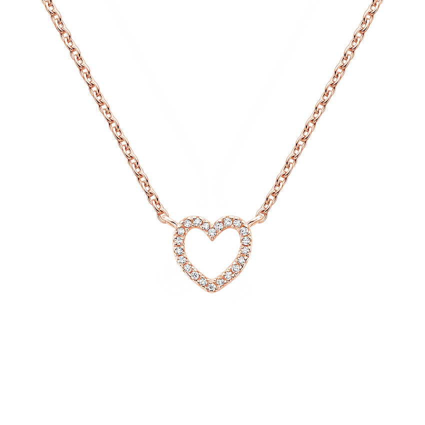 Pavé Diamond Heart Pendant