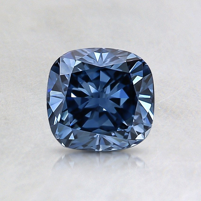0.70 Ct. Fancy Vivid Blue Cushion Lab Created Diamond
