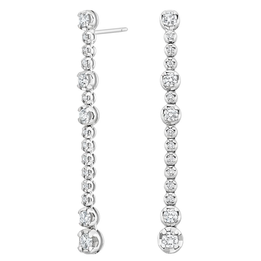 Luxe Drop Diamond Earrings