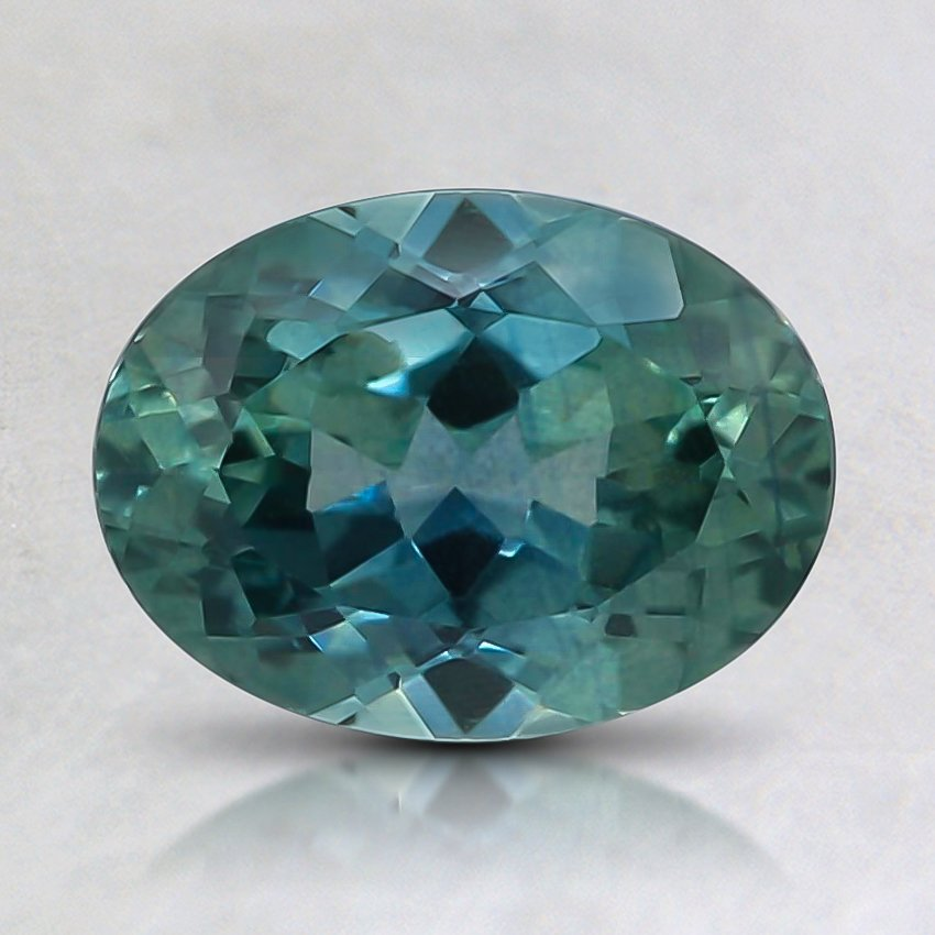 8.1x6mm Premium Teal Oval Sapphire