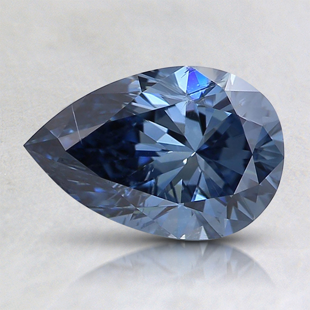 1.04 Ct. Fancy Intense Blue Pear Lab Created Diamond