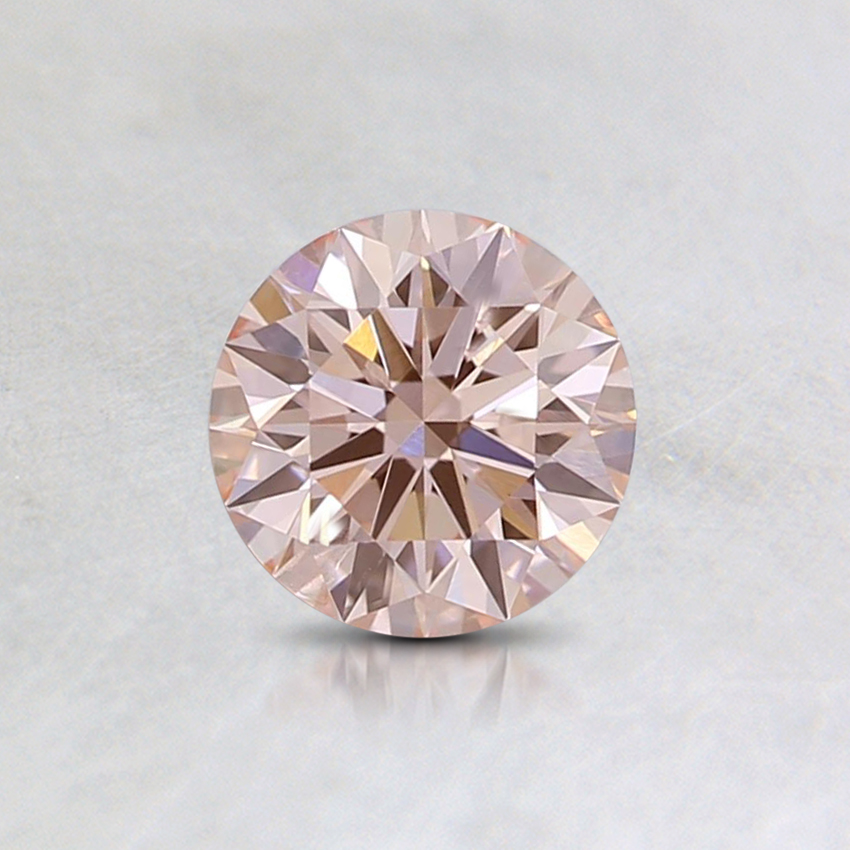 0.50 Ct. Fancy Orangy Pink Round Lab Created Diamond