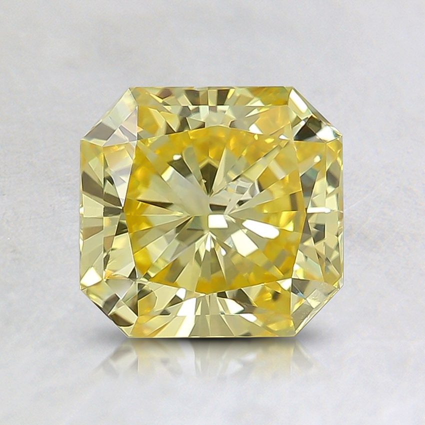 1.16 Ct. Fancy Intense Yellow Radiant Lab Created Diamond