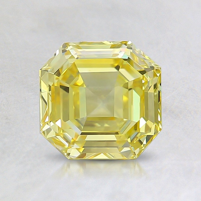 1.20 Ct. Fancy Vivid Yellow Asscher Lab Created Diamond