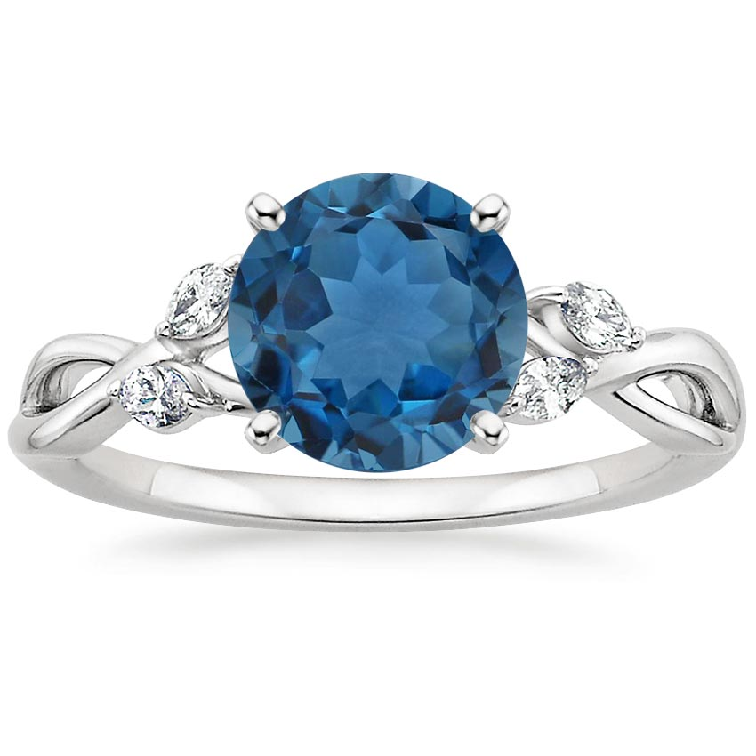 white blue amp london ring in halo topaz zirconia cubic p gold petite rings