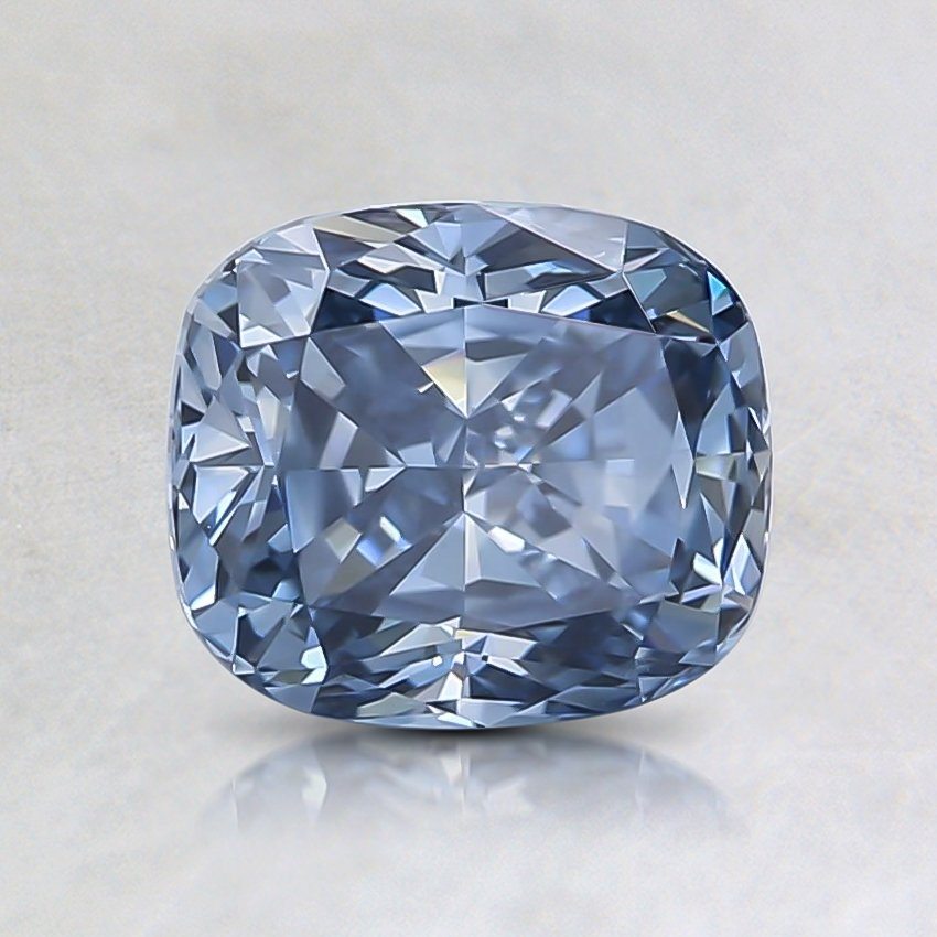 1.11 Ct. Fancy Intense Blue Cushion Lab Created Diamond