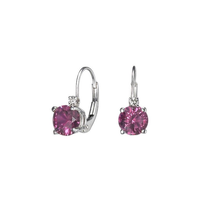 Silver Grape Garnet™ and Diamond Earrings, top view