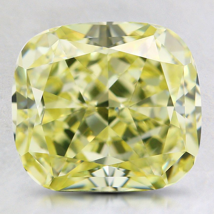 3.37 Ct. Natural Fancy Yellow Cushion Diamond