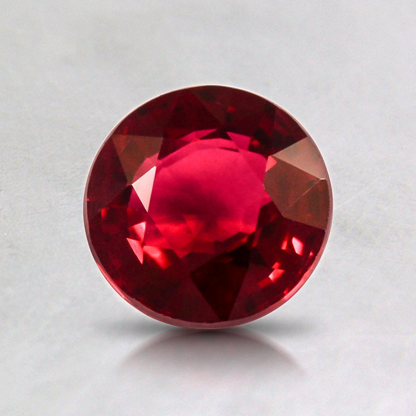 6mm Super Premium Red Round Ruby, top view