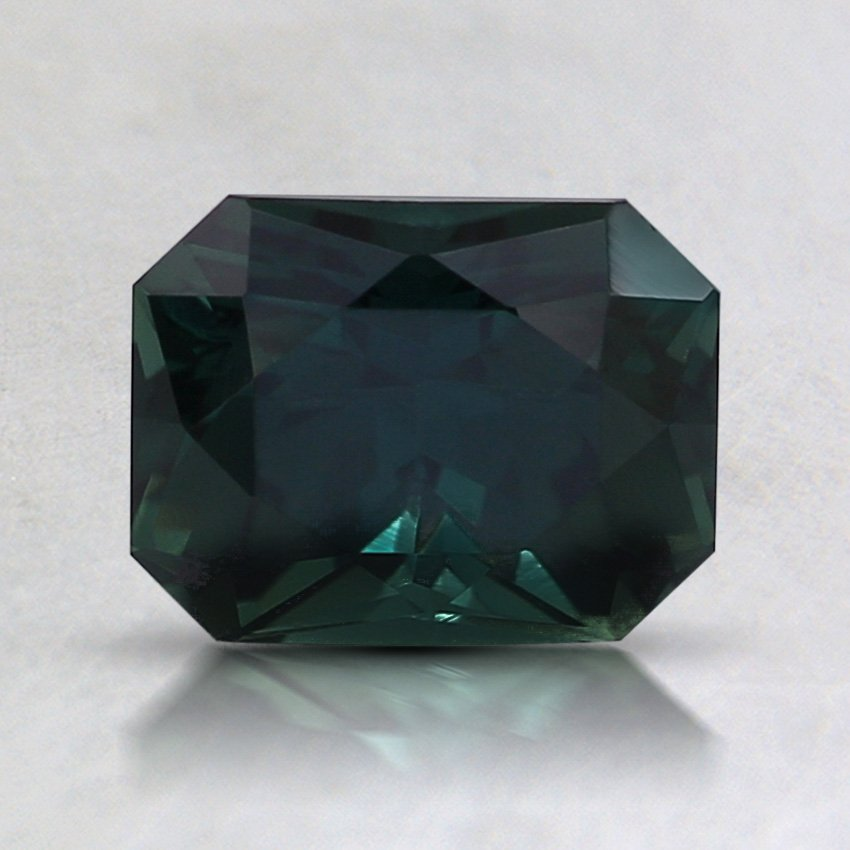 7X5.5mm Unheated Teal Radiant Sapphire, top view