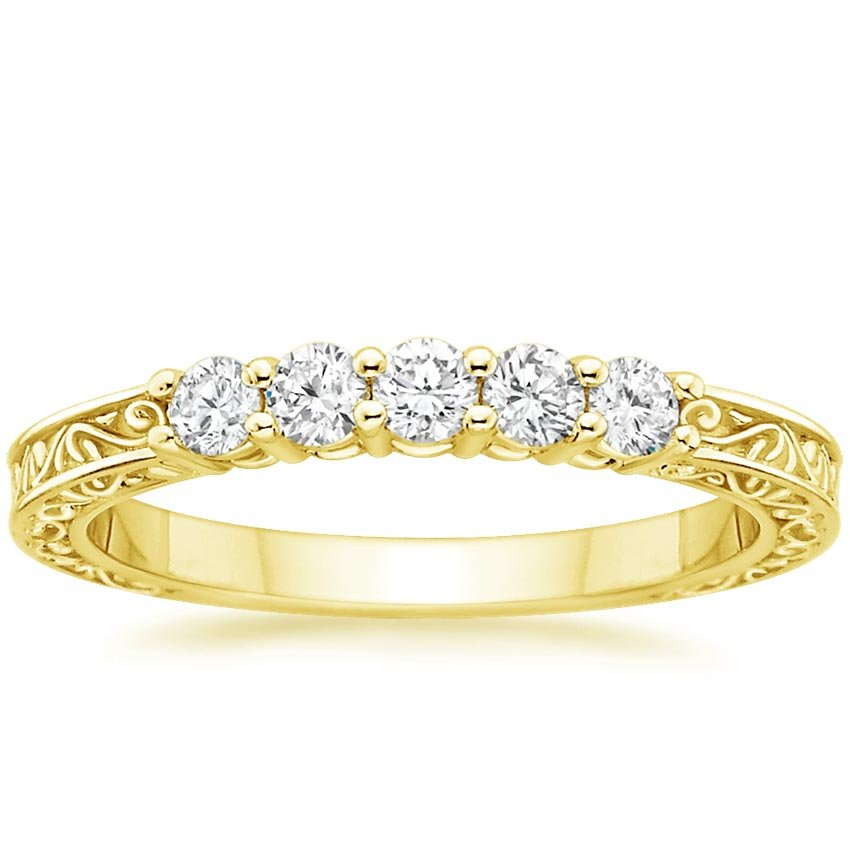 Diamond Anniversary Rings Yellow Gold