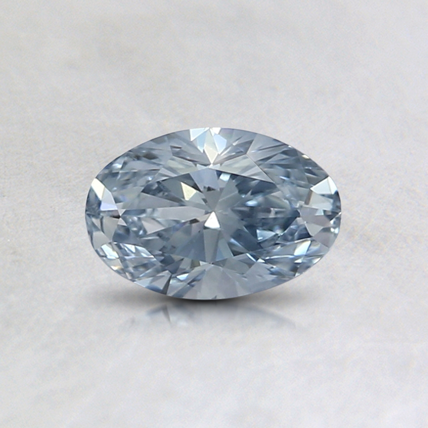 0.41 Ct. Fancy Light Blue Oval Lab Created Diamond