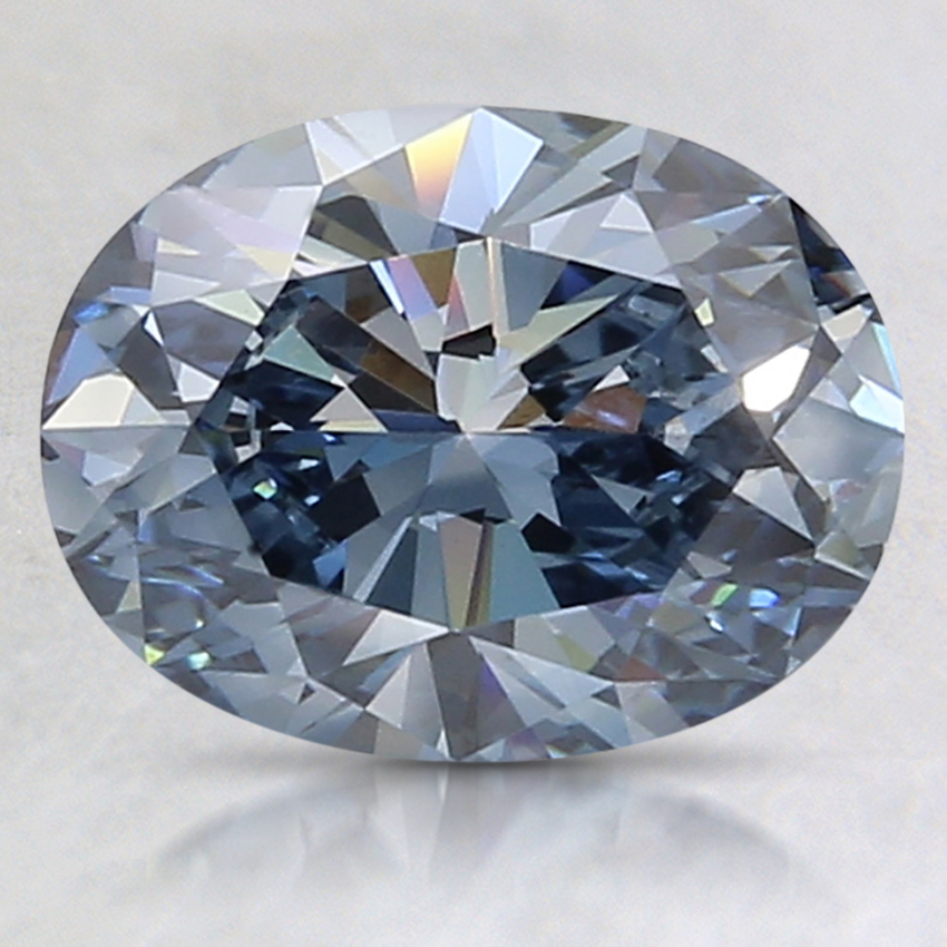 1.93 Ct. Fancy Deep Blue Oval Lab Created Diamond