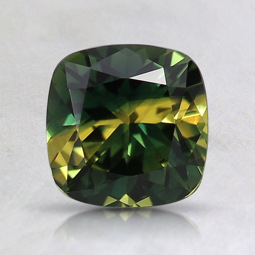 6.5mm Unheated Bi-Color Cushion Australian Sapphire