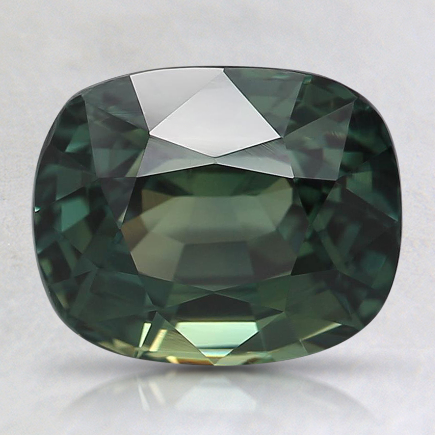 8.7x7.1mm Unheated Teal Cushion Sapphire