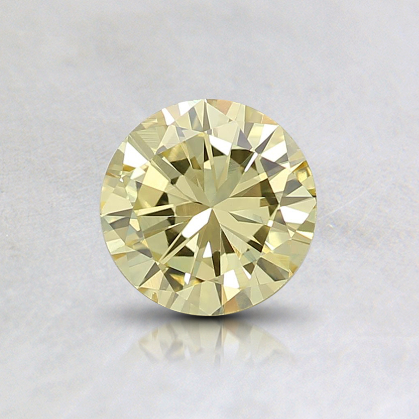 0.62 Ct. Fancy Intense Yellow Round Diamond