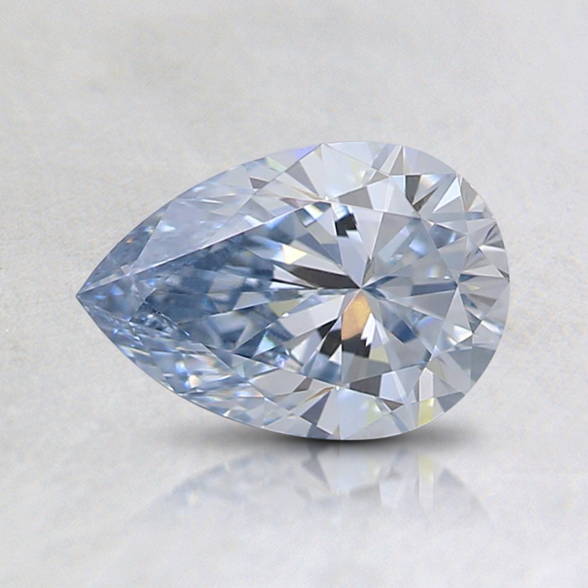 0.75 Ct. Light Blue Pear Lab Created Diamond
