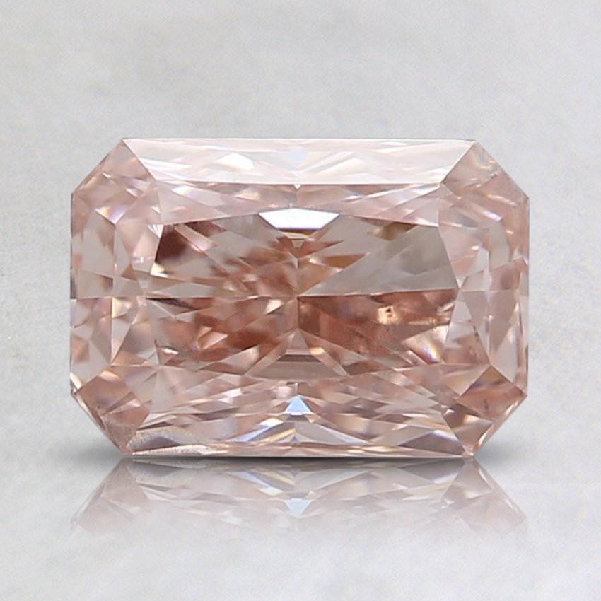 1.00 Ct. Fancy Orangy Pink Radiant Lab Created Diamond