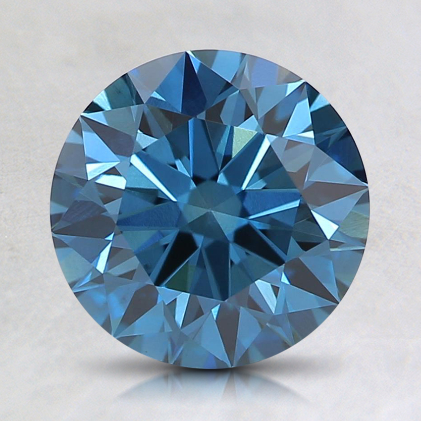 1.72 Ct. Fancy Deep Blue Round Lab Created Diamond