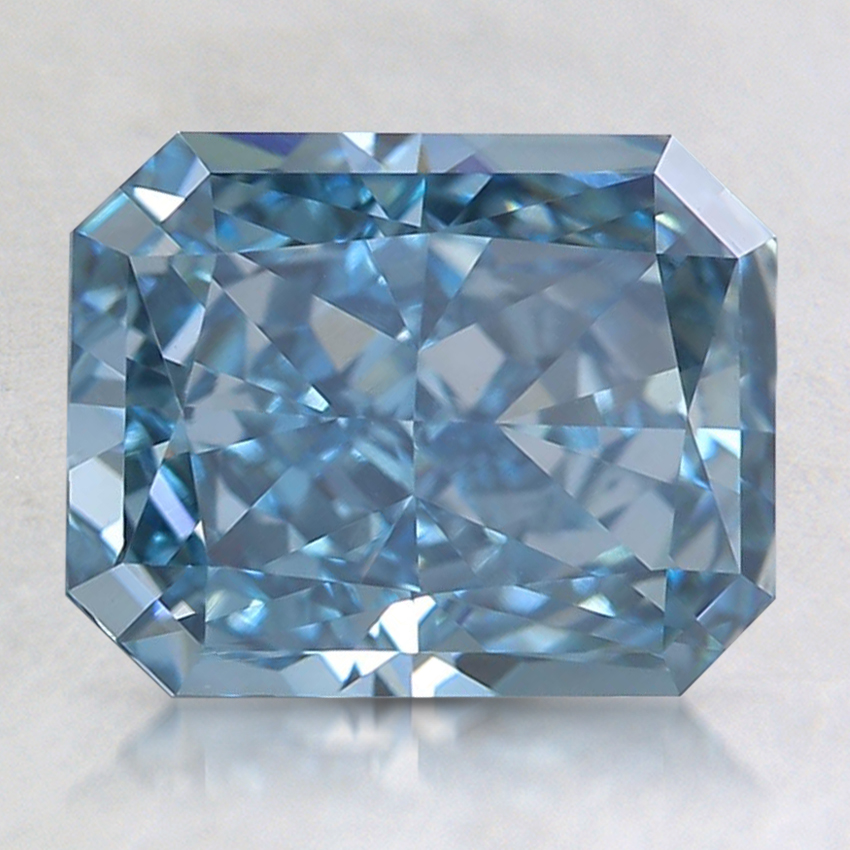 2.11 Ct. Fancy Intense Blue Radiant Lab Created Diamond